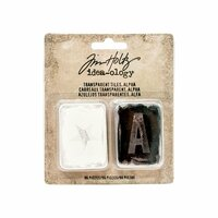 Advantus - Tim Holtz - Idea-ology Collection - Transparent Tiles - Alpha