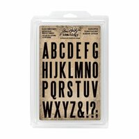 Advantus - Tim Holtz - Idea-ology Collection - Cling Foam Stamps - Block Upper