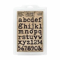 Advantus - Tim Holtz - Idea-ology Collection - Cling Foam Stamps - Type Lower