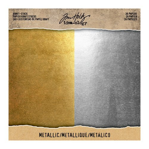 Idea-ology - Tim Holtz - 8 x 8 Kraft Stock - Metallic