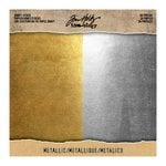 Advantus - Tim Holtz - Idea-ology Collection - 8 x 8 Kraft Stock - Metallic