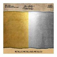 Idea-ology - Tim Holtz - 8 x 8 Kraft Stock - Metallic