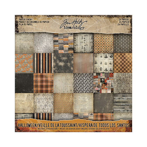 Advantus - Tim Holtz - Idea-ology Collection - 8 x 8 Paper Stash - Mini Stash - Halloween