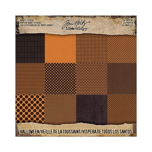 Advantus - Tim Holtz - Idea-ology Collection - 8 x 8 Kraft Paper Stash - Halloween