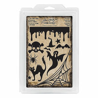 Advantus - Tim Holtz - Idea-ology Collection - Foam Stamps - Halloween