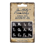 Advantus - Tim Holtz - Idea-ology Collection - Alpha Dice - Black