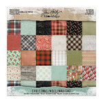 Advantus - Tim Holtz - Idea-ology Collection - 8 x 8 Paper Stash - Mini Stash - Christmas