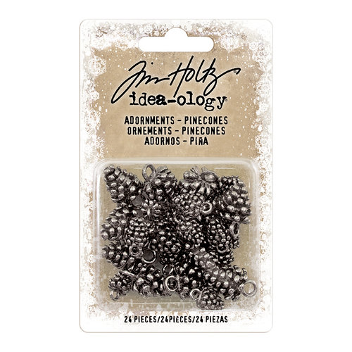 Advantus - Tim Holtz - Idea-ology Collection - Christmas - Adornments - Pinecones