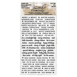 Advantus - Tim Holtz - Idea-ology Collection - Remnant Rubs - Christmas