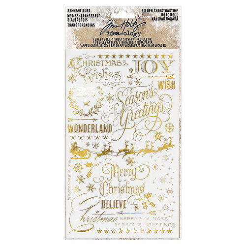 Advantus - Tim Holtz - Idea-ology Collection - Remnant Rubs - Gilded Christmas