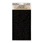 Advantus - Tim Holtz - Idea-ology Collection - Christmas - Metallic Stickers - Holiday Talk