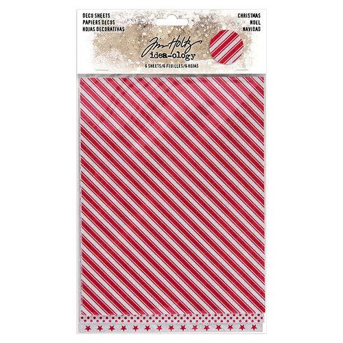 Advantus - Tim Holtz - Idea-ology Collection - Deco Sheets - Christmas