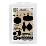 Advantus - Tim Holtz - Idea-ology Collection - Foam Stamps - Christmas