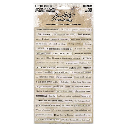 Advantus - Tim Holtz - Idea-ology Collection - Clipping Stickers - Christmas