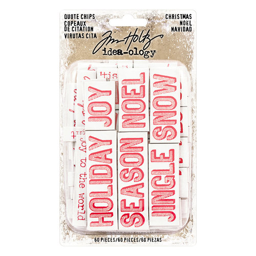 Advantus - Tim Holtz - Idea-ology Collection - Christmas - Quote Chips