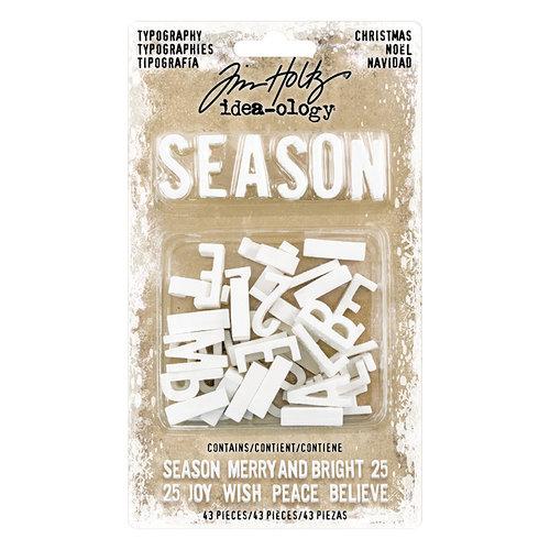 Advantus - Tim Holtz - Idea-ology Collection - Typography - Christmas