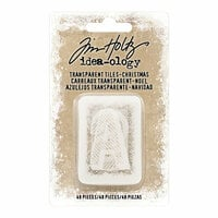 Advantus - Tim Holtz - Idea-ology Collection - Transparent Tiles - Christmas