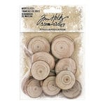 Advantus - Tim Holtz - Idea-ology Collection - Christmas - Wood Slices