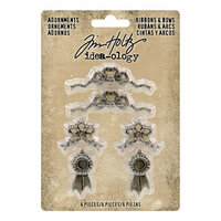 Idea-ology - Tim Holtz - Adornments - Ribbons and Bows