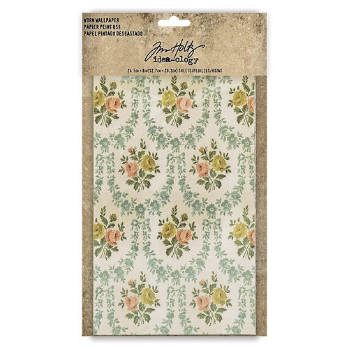 Advantus - Tim Holtz - Idea-ology Collection - Worn Wallpaper