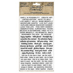 Advantus - Tim Holtz - Idea-ology Collection - Remnant Rubs - Tiny Text
