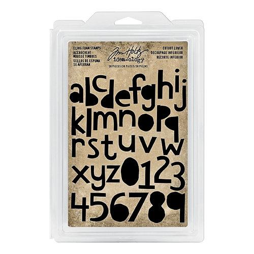 Advantus - Tim Holtz - Idea-ology Collection - Foam Stamps - Cutout Lower