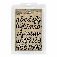 Idea-ology - Tim Holtz - Foam Stamps - Cutout Script
