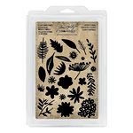 Advantus - Tim Holtz - Idea-ology Collection - Foam Stamps - Cutout Floral
