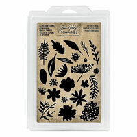 Idea-ology - Tim Holtz - Foam Stamps - Cutout Floral