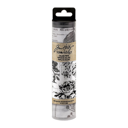Tim Holtz Botanical Collage Paper