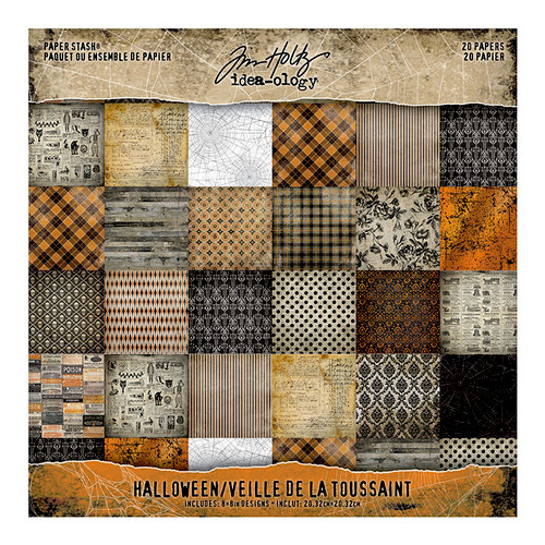 Advantus - Tim Holtz - Idea-ology Collection - 8 x 8 Paper Stash - Halloween