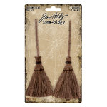 Advantus - Tim Holtz - Idea-ology Collection - Halloween - Broomsticks