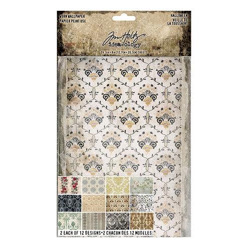 Advantus - Tim Holtz - Idea-ology Collection - Worn Wallpaper - Halloween - 24 Sheets