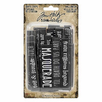 Idea-ology - Tim Holtz - Quote Chips - Halloween