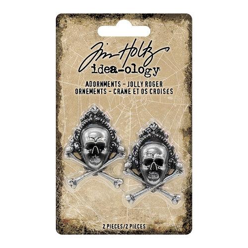 Advantus - Tim Holtz - Idea-ology Collection - Halloween - Adornments - Jolly Roger