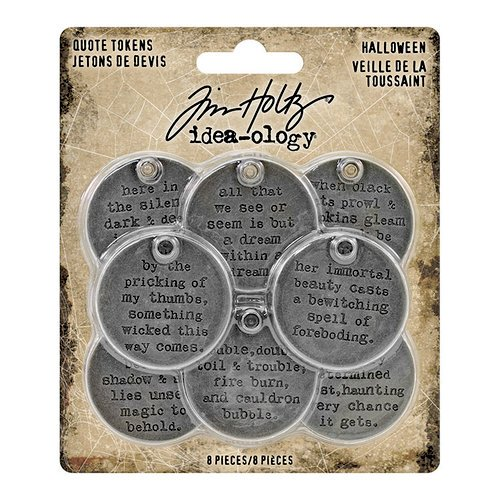 Idea-ology - Tim Holtz - Quote Tokens - Halloween