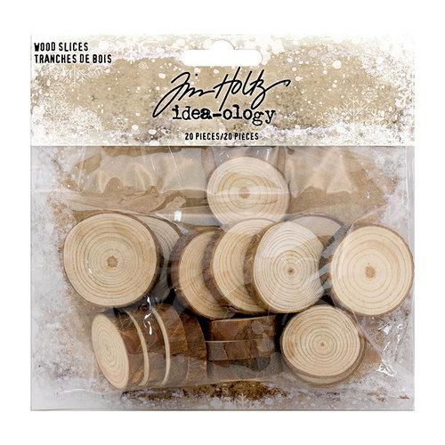 Idea-ology - Tim Holtz - Christmas - Wood Slices