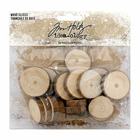 Idea-ology - Tim Holtz - Christmas - Wood Slices