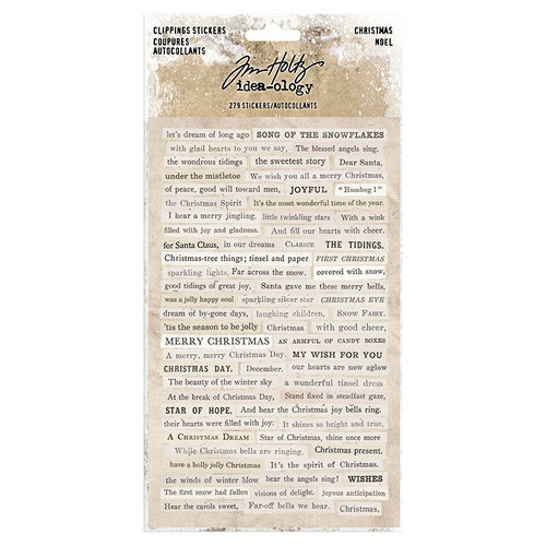 Tim Holtz Christmas Clipping Stickers