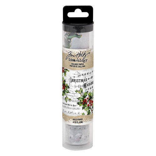 Idea-ology - Tim Holtz - Christmas - Collage Paper - Holly
