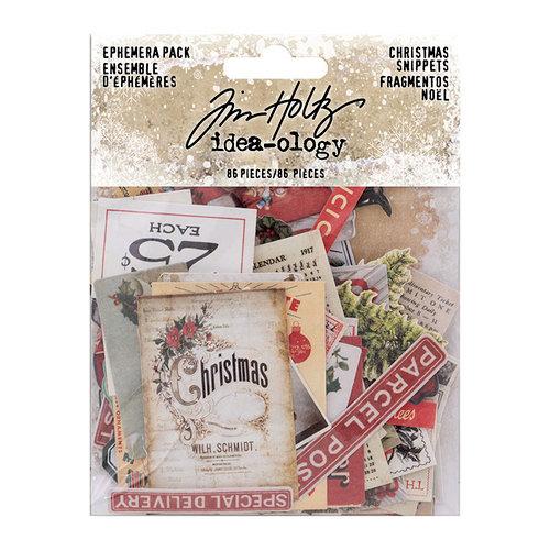 Advantus - Tim Holtz - Idea-ology Collection - Christmas - Ephemera Pack - Christmas Snippets