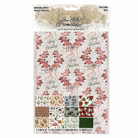 Idea-ology - Tim Holtz - Christmas - Worn Wallpaper - 24 Sheets