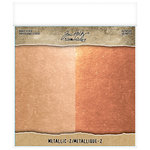 Advantus - Tim Holtz - Idea-ology Collection - 8 x 8 Kraft Stock - Metallic - 2