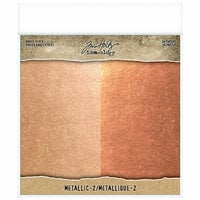 Idea-ology - Tim Holtz - 8 x 8 Kraft Stock - Metallic - 2