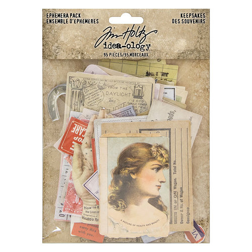 Idea-ology - Tim Holtz - Ephemera Pack - Keepsakes