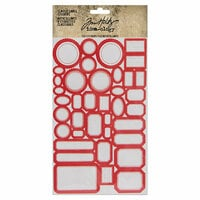 Idea-ology - Tim Holtz - Cardstock Stickers - Classic Label