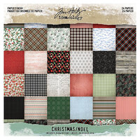 Idea-ology - Tim Holtz - Christmas - 8 x 8 Mini Paper Stash