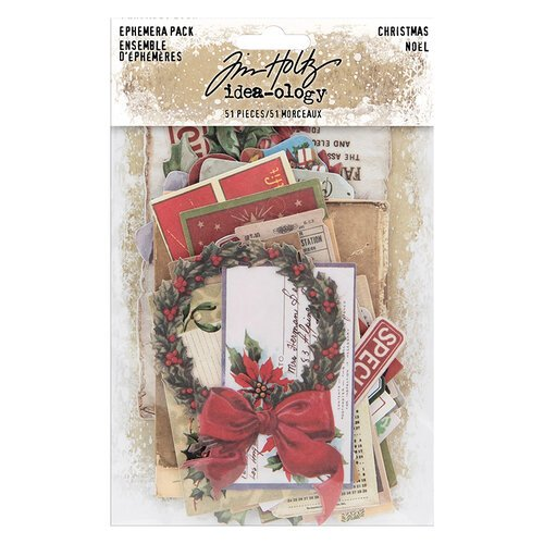 Idea-ology - Tim Holtz - Christmas - Ephemera Pack