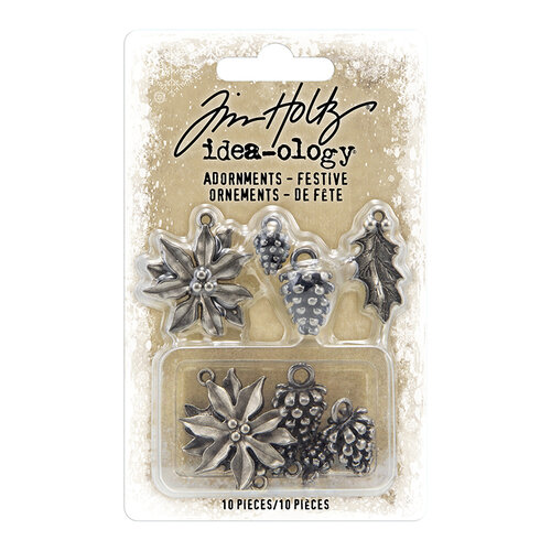 Idea-ology - Tim Holtz - Christmas - Adornments - Festive