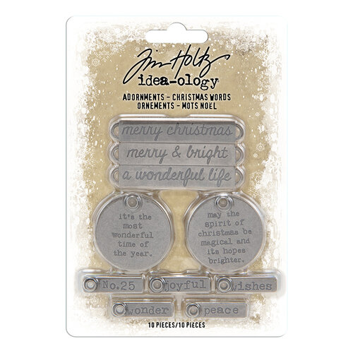 Idea-ology - Tim Holtz - Christmas - Adornments - Christmas Words